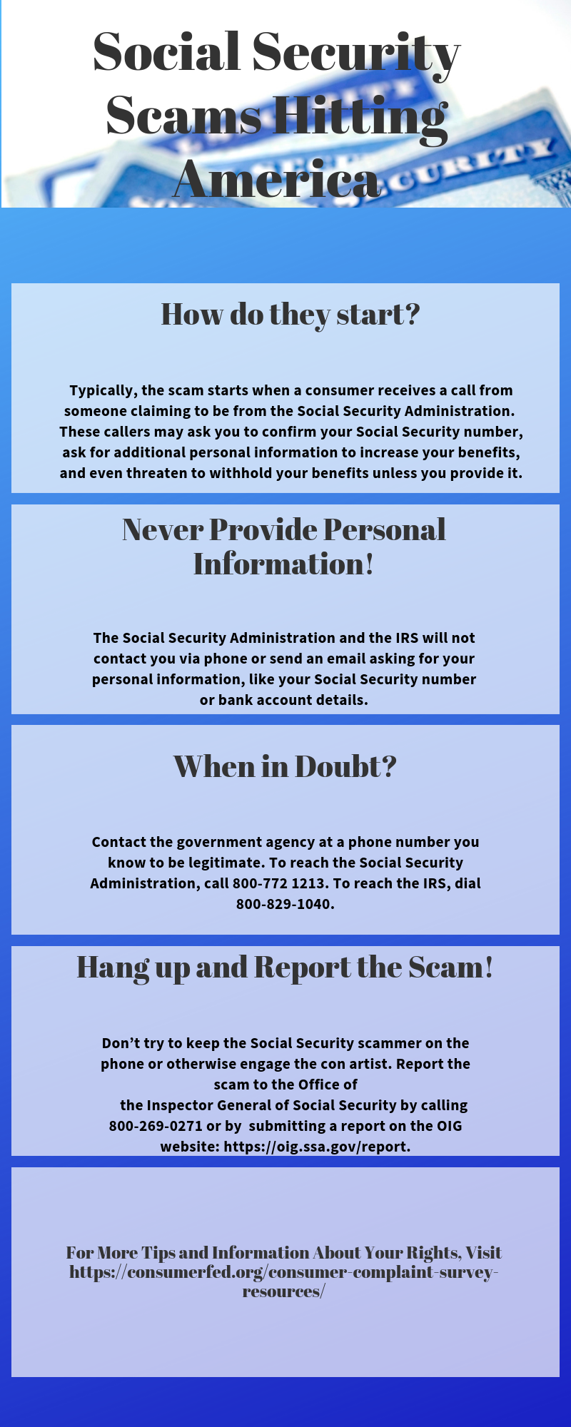 Social Security Scams Hit Americans Consumer Federation Of America